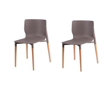 Set 2 scaune Alisia Light Grey