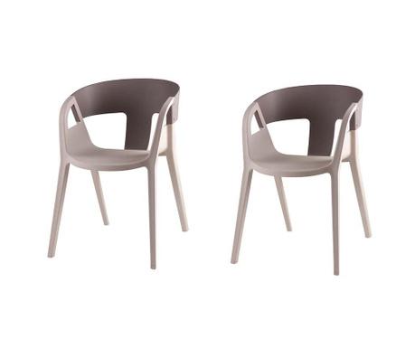 Комплект 2 стола Willa Beige and Dark Grey