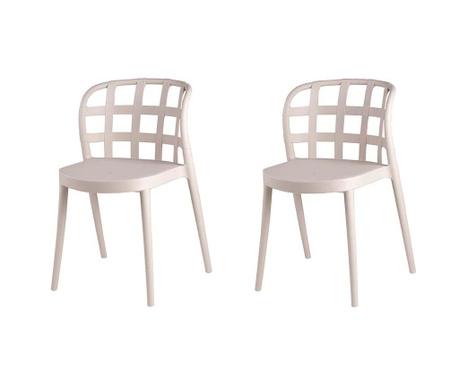 Set 2 scaune Ginnie Beige
