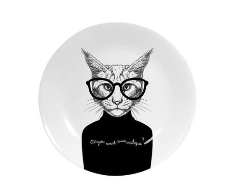 Ukrasni tanjur Black Cat