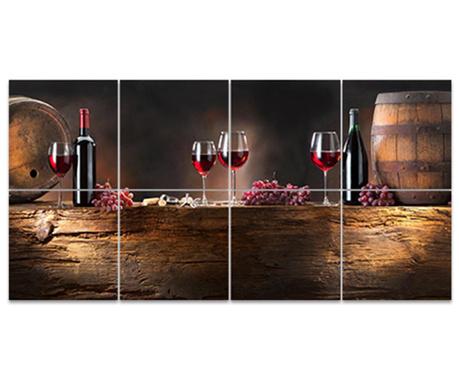 Set 8 slika Wine Barrel 30x30 cm
