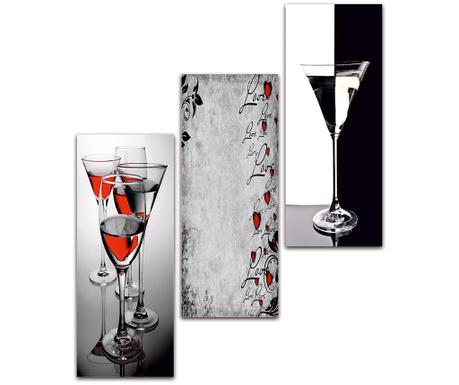 Set 3 tablouri Bar Mood 25x50 cm