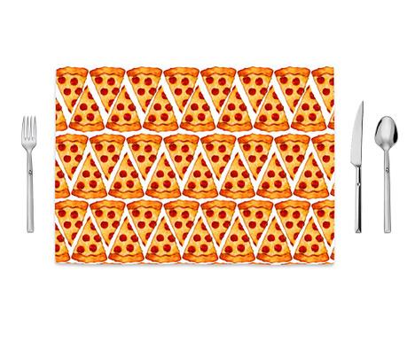 Pizza Emoji Tányéralátét 35x50 cm