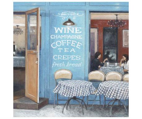 Slika Wine Coffee Tea 33x33 cm