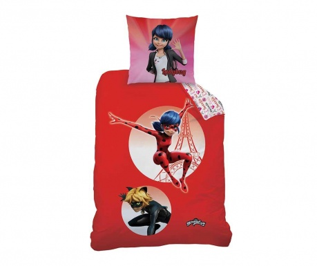 Posteljina  Single  Ranforce Miraculous Ladybug Marinette