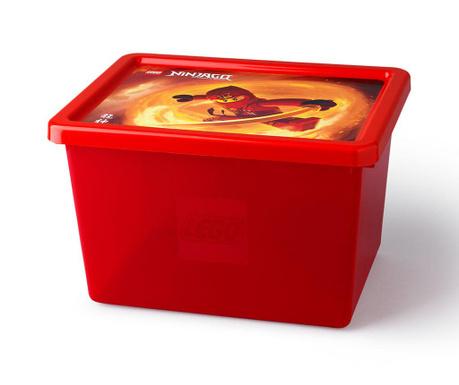 Kutija za pohranu s poklopcem Lego Ninjago 18 L