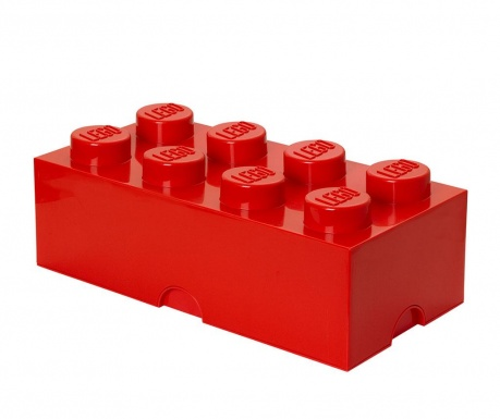 Кутия с капак Lego Rectangular Extra Red