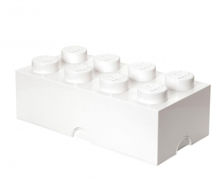 Кутия с капак Lego Rectangular Extra White