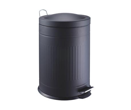 Cos de gunoi cu capac si pedala Step Black 20 L