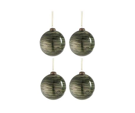 Комплект 4 декоративни топки Dark Beauty