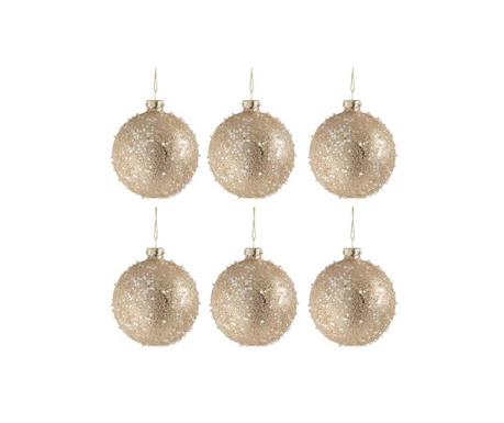 Комплект 6 декоративни топки Glitter Pearls