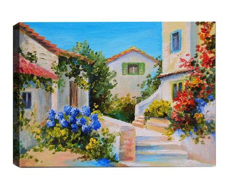 Slika 3D Mediterranean Village 50x70  cm