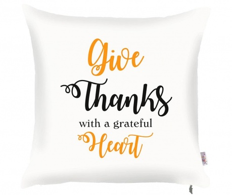 Prevleka za blazino Give Thanks 43x43 cm