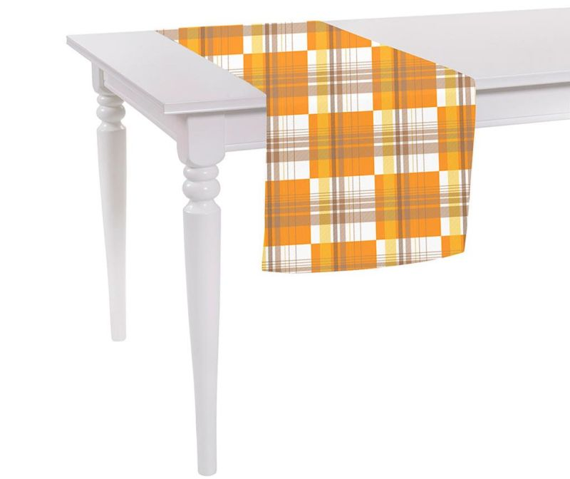 Orange Checks Asztali futó 40x140 cm