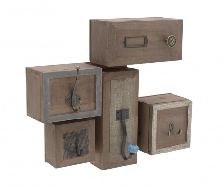 Закачалка с чекмеджета Vintage Brown Grey