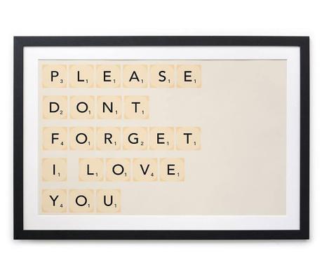 Slika I Love You 40x50 cm