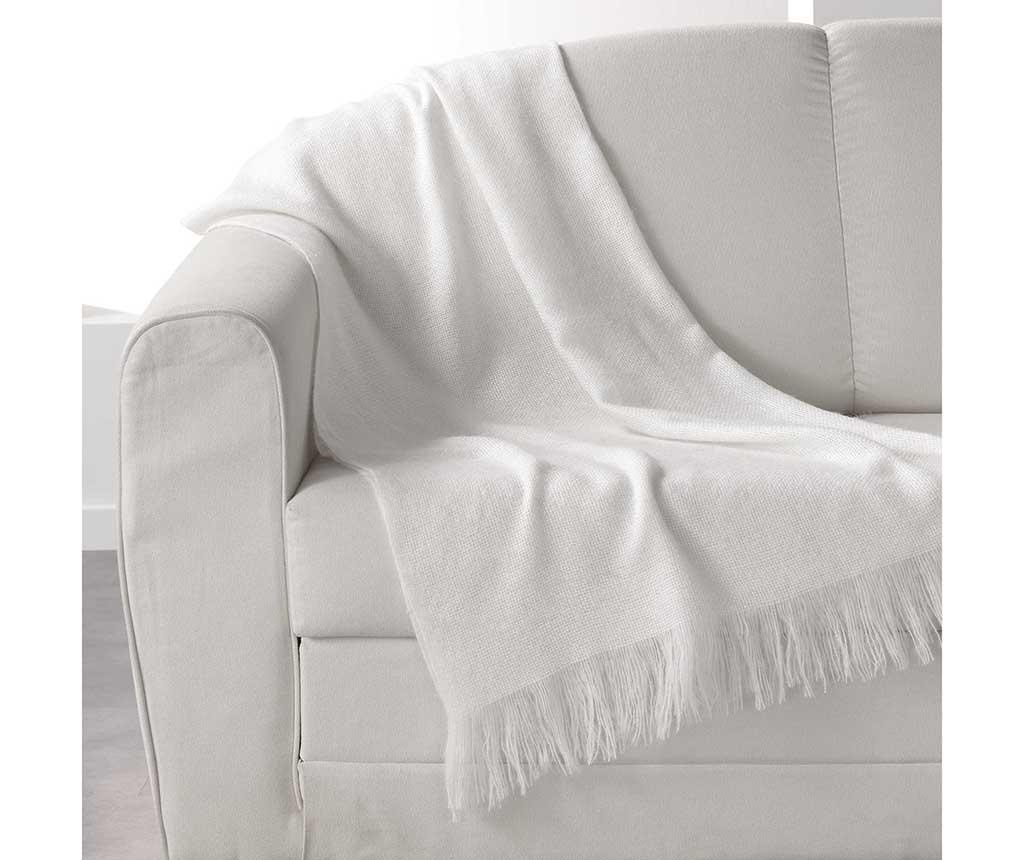 Pled Shelly White 120x150 cm