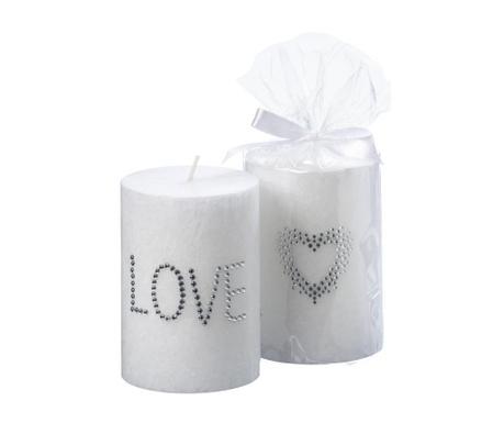 Комплект 2 свещи Love and Heart S