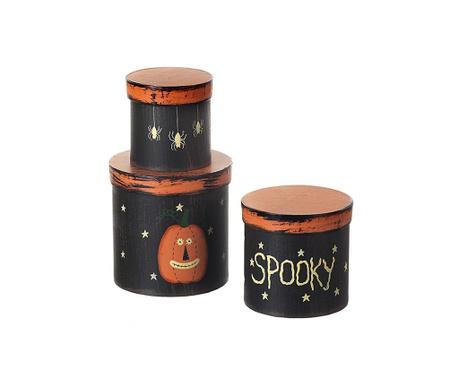 Set 3 recipiente cu capac Spooky