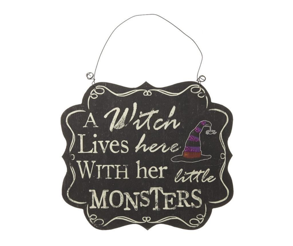 Stenska dekoracija Witch and Monsters