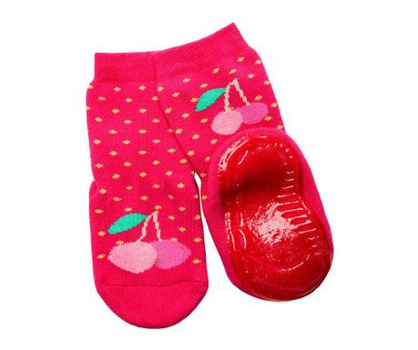 Чорапи с нехлъзгаща се подметка Cherry Fuchsia