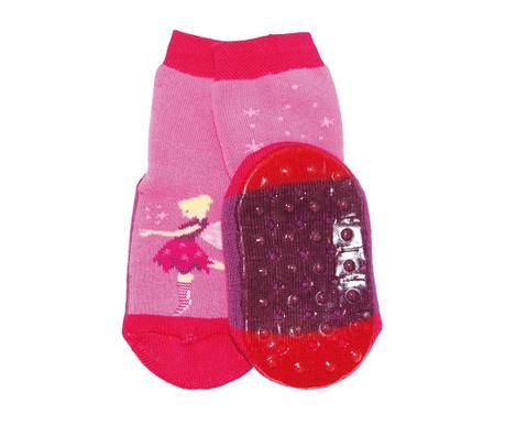 Čarape sa protukliznim potplatom Fee Pink