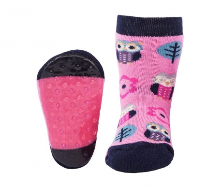 Чорапи с нехлъзгаща се подметка Eule Pink