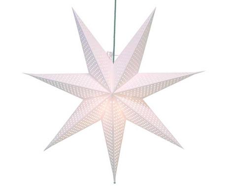 Świetlna dekoracja wisząca Huss Star White