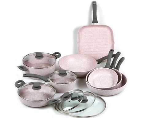 Комплект съдове за готвене 13 части Stonerose Star Grey