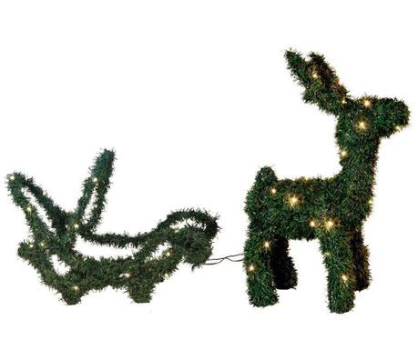 Светеща декорация за екстериор Reindeer with Sleigh