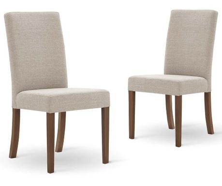 Set 2 scaune Tonka Cream