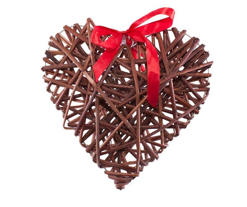 Ribbon Heart Ajtódísz