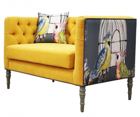 Loveseat Yellow Szófa