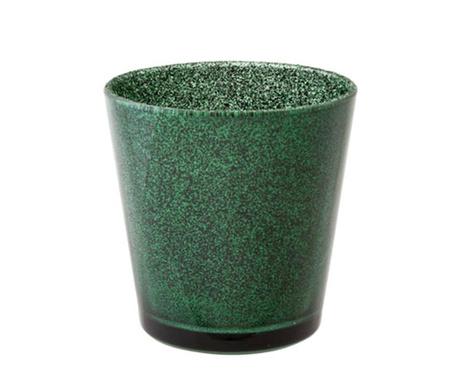Glitter Green Gyertyatartó