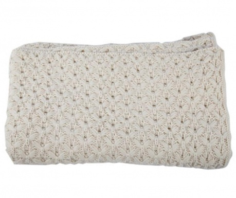 Pled Knittwork Light Grey 150x170 cm