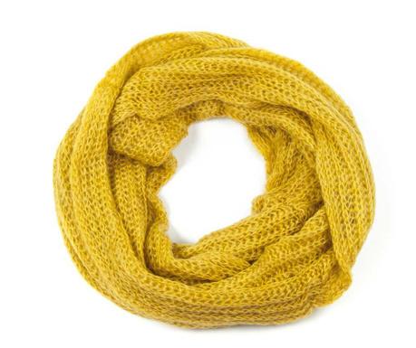 Fular circular Mia Yellow 40x130 cm