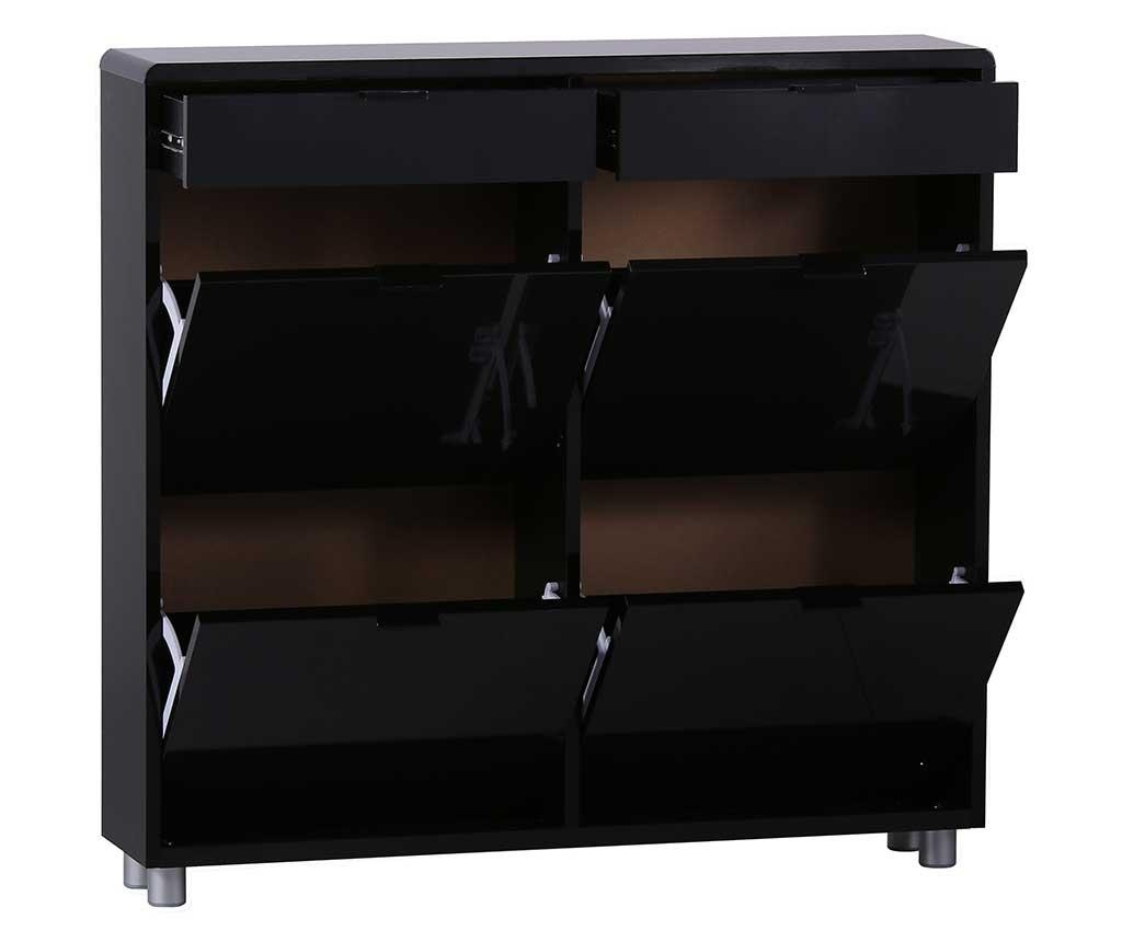 Шкаф за обувки Leroy Square Black