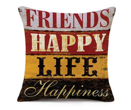 Калъфка за възглавница Happiness 45x45 см