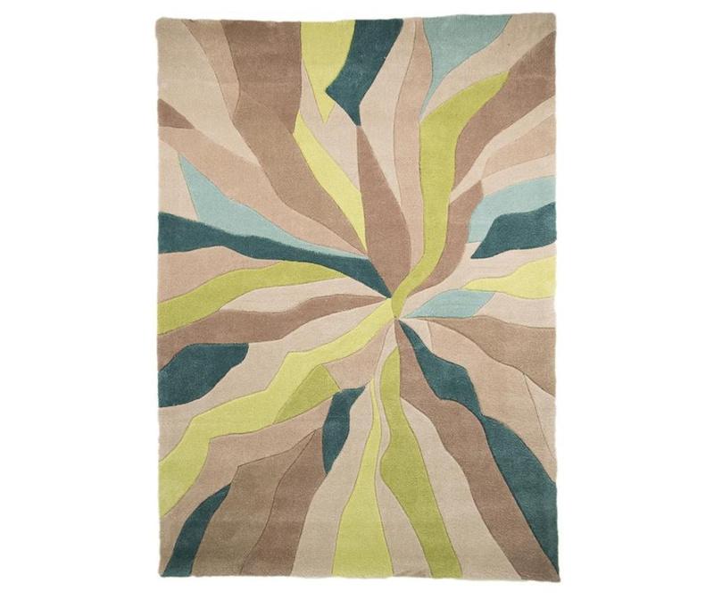 Splinter Teal Green Szőnyeg 120x170 cm
