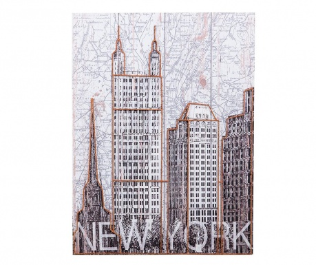 Slika New York Map 60x80 cm