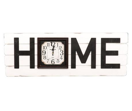 Nástěnná dekorace s hodinami Home