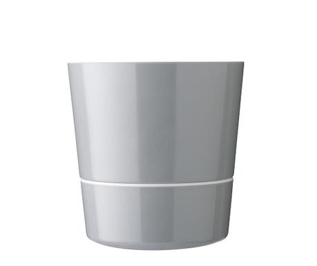 Γλάστρα με σύστημα αυτόματου ποτισμού Hydro Grey
