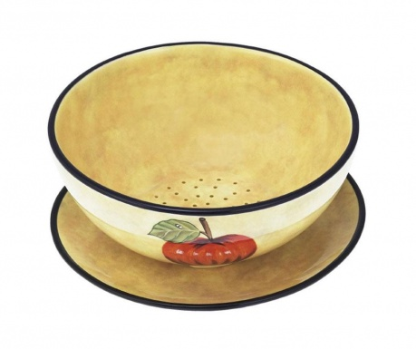 Zestaw miska na owoce i talerz Toscana Water