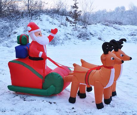 Nadmuchiwana dekoracja świetlna Santa