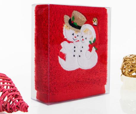 Πετσέτα μπάνιου Snowman Love 30x50 cm