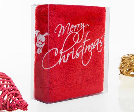 Prosop de baie Merry Christmas Red 30x50 cm