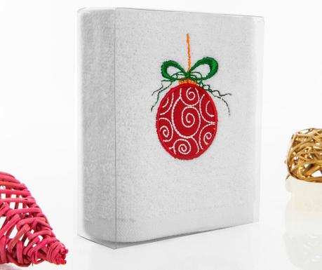 Red Christmas Ball Fürdőszobai törölköző 30x50 cm