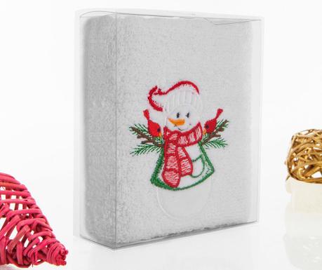 Christmas Snowman Fürdőszobai törölköző 30x50 cm