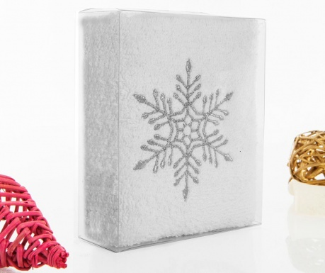 Feast Snowflake Fürdőszobai törölköző 30x50 cm