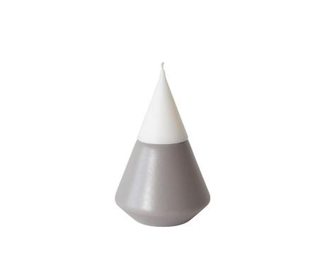 Svečnik s svečo Vulcano Grey S